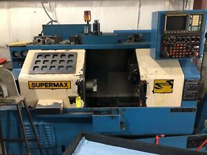 Supermax Turning Center Cnc Fanuc Ot Control With Tail Stock