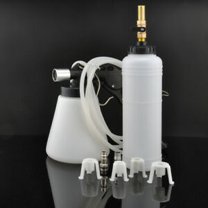 1l Brake Clutch Bleeder Bleeding Vacuum Pump Kit Pneumatic Fluid Bottle