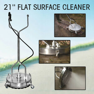 Flat Surface Cleaner High Pressure Washer Water Concrete Cleaning Trolley 21