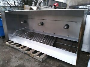10 Captive Air Exhaust Hood With Exhaust Fan Elec Control And Fire Suppression