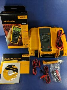 New Fluke 77iv Multimeter Original Box Hard Case