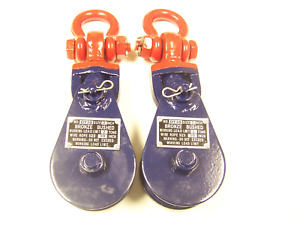 2 Ton Capacity Snatch Block With Swivel Shackle 3 Sheave 3 8 Cable qty 2