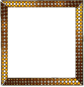 40 X40 4pc Vintage Antique Leaded Stained Glass Picture Frame Wall Art Decor
