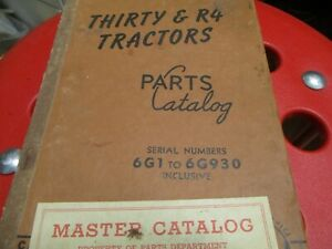 Caterpillar Thirty R4 Tractors Parts Catalog Manual S n 6g1 To 6g930