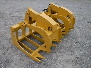 Cat Skid Steer Attachment 72 Severe Duty Root Grapple Bucket Ship 199