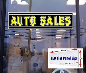 Auto Sales Led Window Sign 48x12 Neon Banner Alternative With New Generation Led