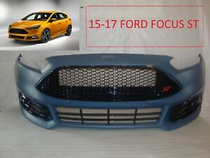 2015 2016 2017 Ford Focus St Front Bumper Cover Grille Grill Fog Light Grilles