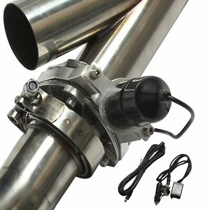 2 5 63mm Mannal Electric Exhaust Catback Downpipe Cutout E Cut Out Valve System