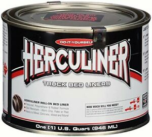 1 Quart Black Protective Coating Herculiner Truck Bed Liner Brush On 5x Thicker