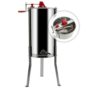 2 Frames Manual Honey Extractor Stainless Steel Beekeeping Machines With Holder