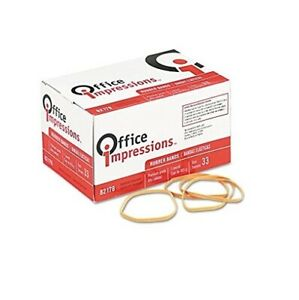 Office Impressions Rubber Bands Size 33 0 125 X 3 5 Inches 630 Per 1 Lb Pack