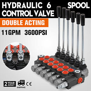 6 Spool Hydraulic Directional Control Valve 11gpm 40l min Tractors Loaders