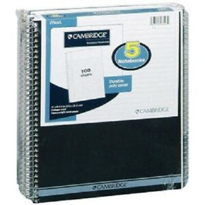 Mead Cambridge Notebooks 5 100 Sheet Ct Office School Supplies