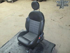 12 13 Fiat 500 Sport Front Right Passenger Side Manual Seat Bucket Black gray