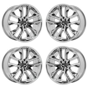 20 Ford Mustang Gt Pvd Chrome Wheels Rims Factory Oem 2017 2018 Set 4 10039