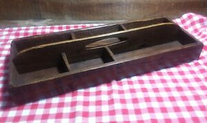 Antique Or Vintage Primitive Wooden Carrier Small Tools Or Hardware 18 X 7