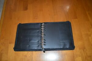 Franklin Covey Black Leather Zip Planner binder