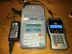 Pre owned First Data Fd 100 Fd 35 Emv Smart Credit Card Reader Terminal