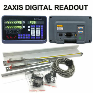 Digital Readout 2axis Dro Display 2pc Ttl Linear Scale Cnc Bridgeport Milling