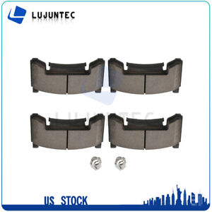 Front Ceramic Brake Pads For 1991 1992 1993 2002 Gmc Sonoma Low Noise 4pcs Set
