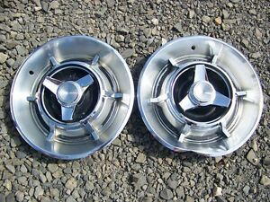 1967 Dodge Charger Spinner Hubcaps Pair Oem