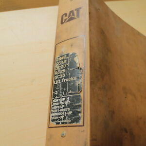 Cat Caterpillar Gc15 Gc18 Gc20 Gc25 Gc30 Forklift Service Manual Repair Shop