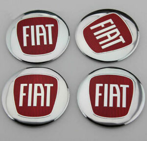 4x Red 2 2 Car Wheel Center Hub Caps Emblem Badge Decal Stickers For 500 Abarth