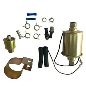 New 2 5 4 5psi Low Pressure Electric Fuel Pump With Installation Kit Universal