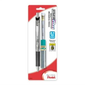 Pentel Energize Automatic Pencil With Lead And Erasers 0 7mm Assorted 1 Pack