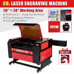 20x28 100w Co2 Laser Engraver Cutter Engraving Cutting Machine Ruida Dsp 110v