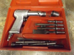 Snap on Ph 50c Pneumatic Air Hammer With 9 Chisels And Case Tested