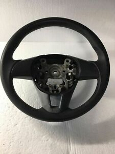 Steering Wheel With Switch Control Cover Leather Black Mazda 3 Mazda3 2014 Oem