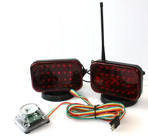 48 Led Wireless Tow Light Kit W Magnetic Base Cordless Waterproof Haul Truck Rv