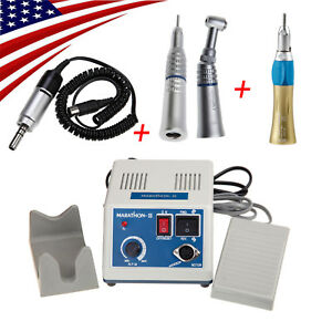 Dental Electric Micromotor 35k Rpm Contra Angle 2 Straight Handpieces Ies