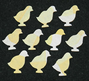 10 Primitive Antique Cutter Quilt Baby Chicks Look 2 Tone Yellow