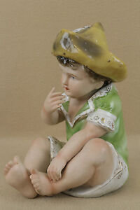 Antique German Bisque Porcelain Piano Baby Boy Doll Figure Figurine Sale Price