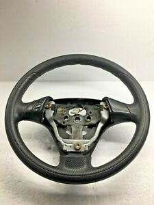 Steering Wheel With Switch Cover Leather Black Mazda 3 Mazda3 04 09 2005 Oem