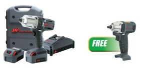 1 2 Cordless Impact Wrench Anvil Two Battery Kit W free 3 8 Impact Wrench