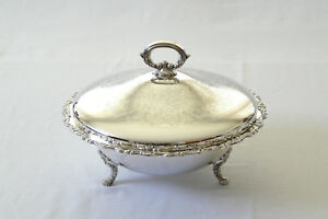Oneida Silverplate Round Covered Casserole Dish