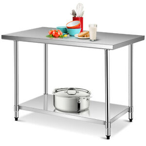 30 X 48 Stainless Steel Food Prep Work Table Commercial Kitchen Worktable