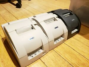3 Epson Tm u220d M188d Pos Receipt Printers Parallel Port With Extra Supplies