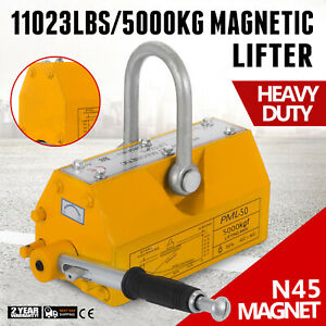 11000lbs 5000kg Portable Permanent Magnetic Lifter Crane Lifting Tool Heavy Duty