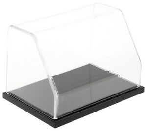 Plymor Slanted Acrylic Display Case With Black Base 6 W X 4 D X 4 H