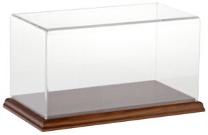 Plymor Acrylic Display Case With Hardwood Base 10 W X 5 D X 5 H