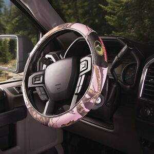 Pink Mossy Oak Camo Steering Wheel Cover Grip Camouflage Auto Car Truck