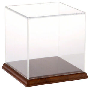 Plymor Clear Acrylic Display Case With Hardwood Base 6 X 6 X 6