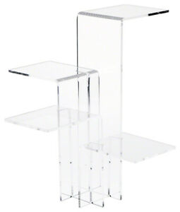 Clear Acrylic Quick Setup 4 shelf Display Riser 12 375 H X 12 25 W X 12 25 D