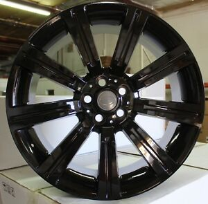 22 Inch Rims Range Rover Fit All Hse Hse Sport Svr Gloss Black Stormers Wheels