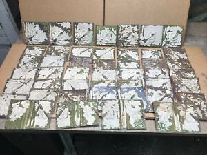 45pc Craft Lot Of 5 By 5 Antique Ceiling Tin Vintage Reclaimed Salvage Art