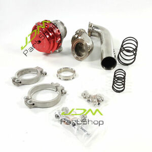 Mvr44 Tial 44mm Wastegate exhuast Dump Tube Pipe Elbow Inlet Adaptor Stainless